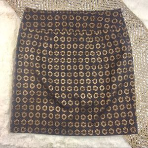 New Ann Taylor Loft Blue Copper Fitted Skirt 0 $50